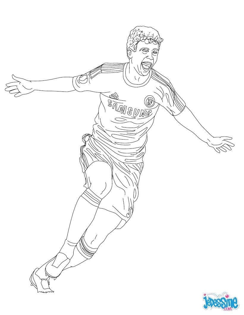 Coloriage du joueur de foot Oscar Le Bresilien € imprimer gratuitement ou colorier en ligne