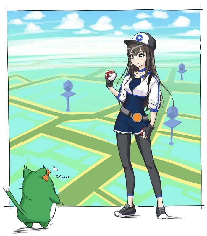 Girl Pokeball Pokemon Go Pokemon Trainer Black Hair