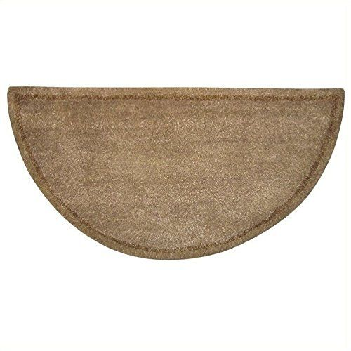 27 X 48 Flame Resistant Fiberglass Half Round Hearth Rug In Tan Hearth Rug Rugs Fireplace Accessories