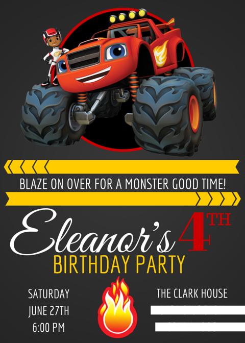 custom invitation | Blaze party | Pinterest | Custom invitations