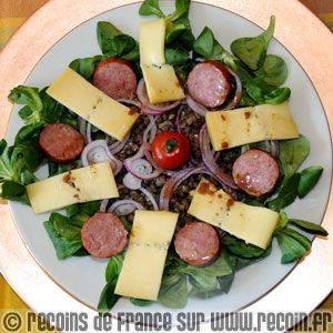 Recette Salade De Lentilles Au Morbier Recette Recettes De Cuisine Recette Salade Lentilles Recette