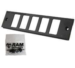 "RAM Tough-Box™ Console Custom 2"" Faceplate. Accomodates Five Switches"