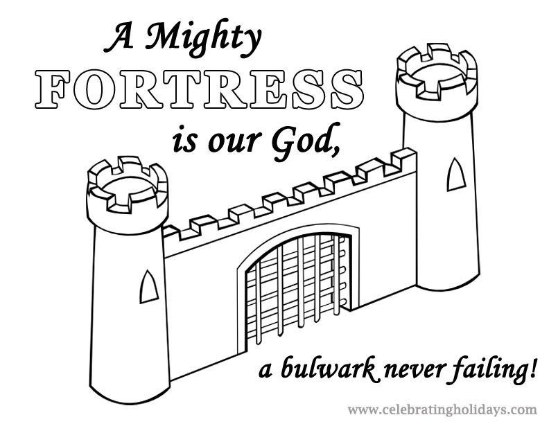 Free Reformation Day Coloring Page (A Mighty Fortress