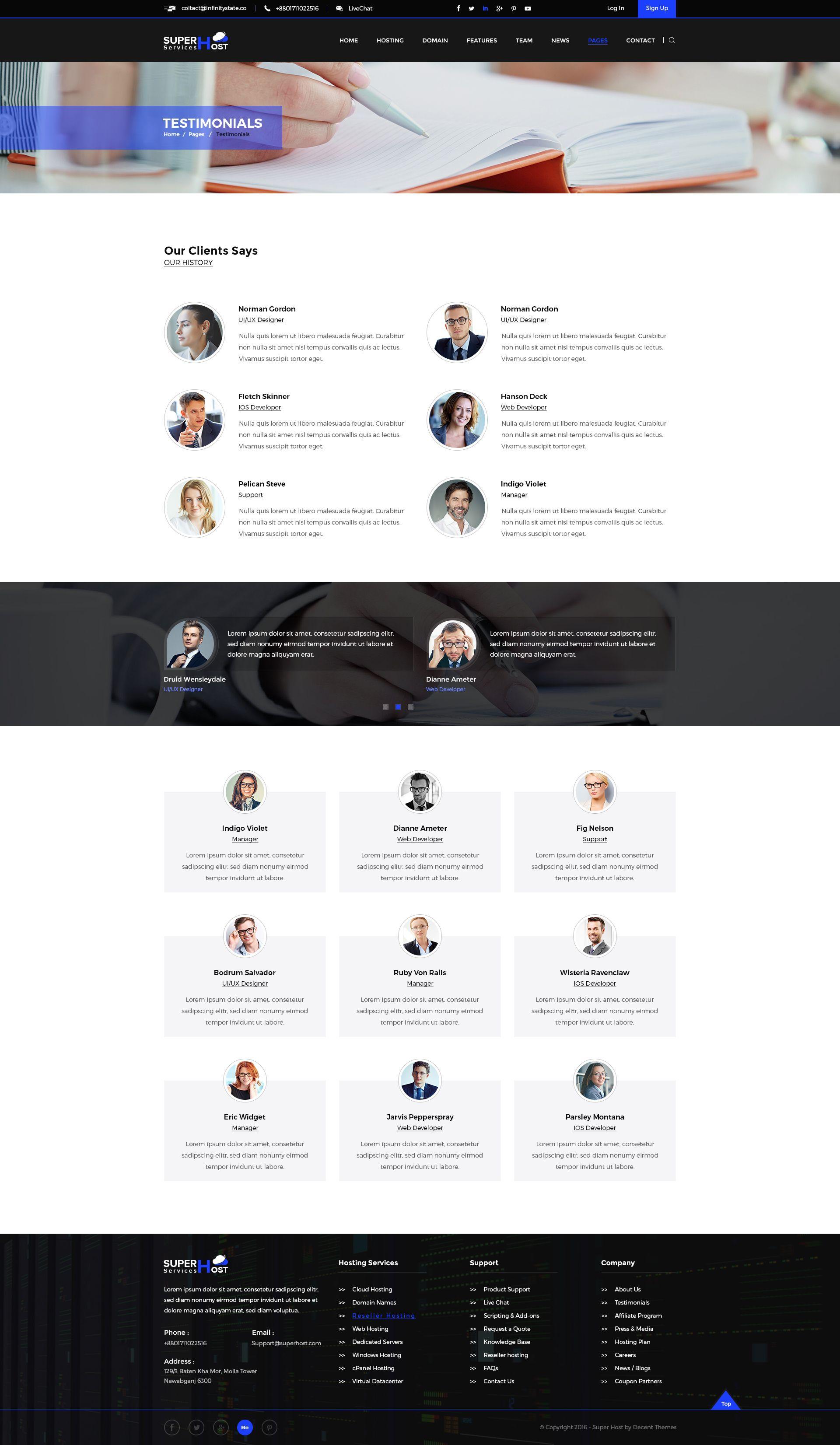 Super Host - Premium Web Hosting PSD Template #Premium, #Host, #Super, #Web