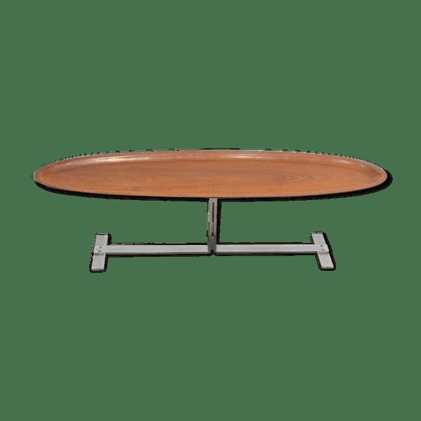 Table Basse Ovale Italienne Années 60 2 Furniture Möbler