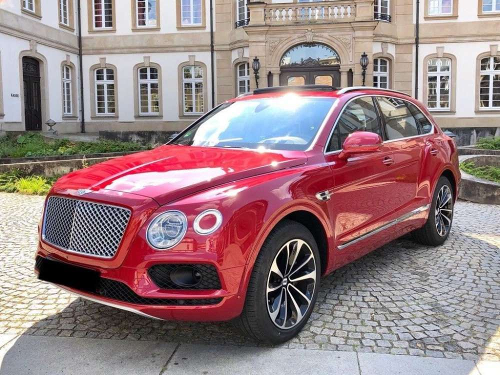 2016 Bentley Bentayga W12 Fond Entertainment Suv 4 Seats Red