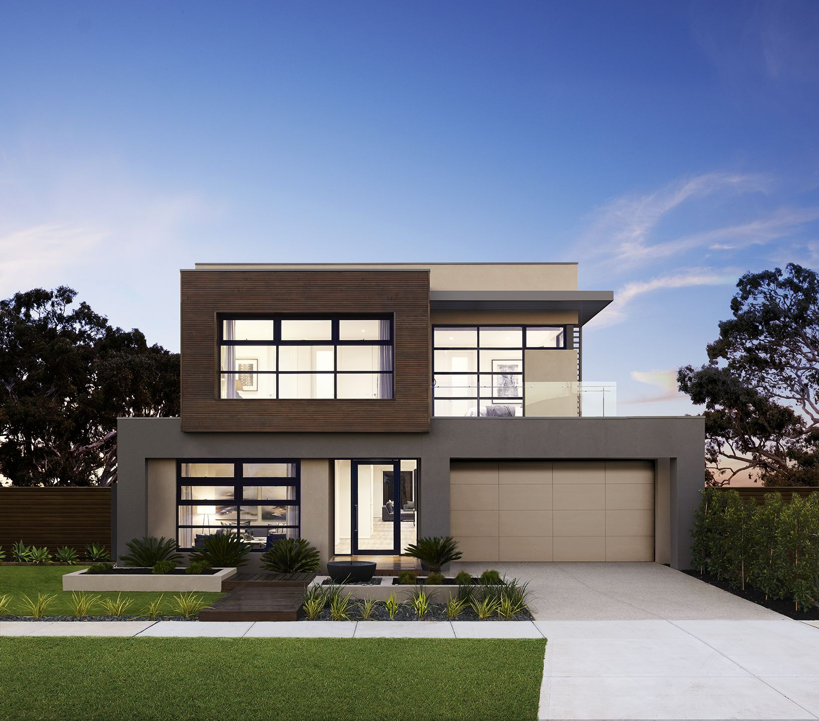 Modern House Facades, Two Story House Design