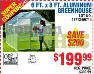 Small Greenhouse Coupon Harbor Freight 47712 Kouponthis