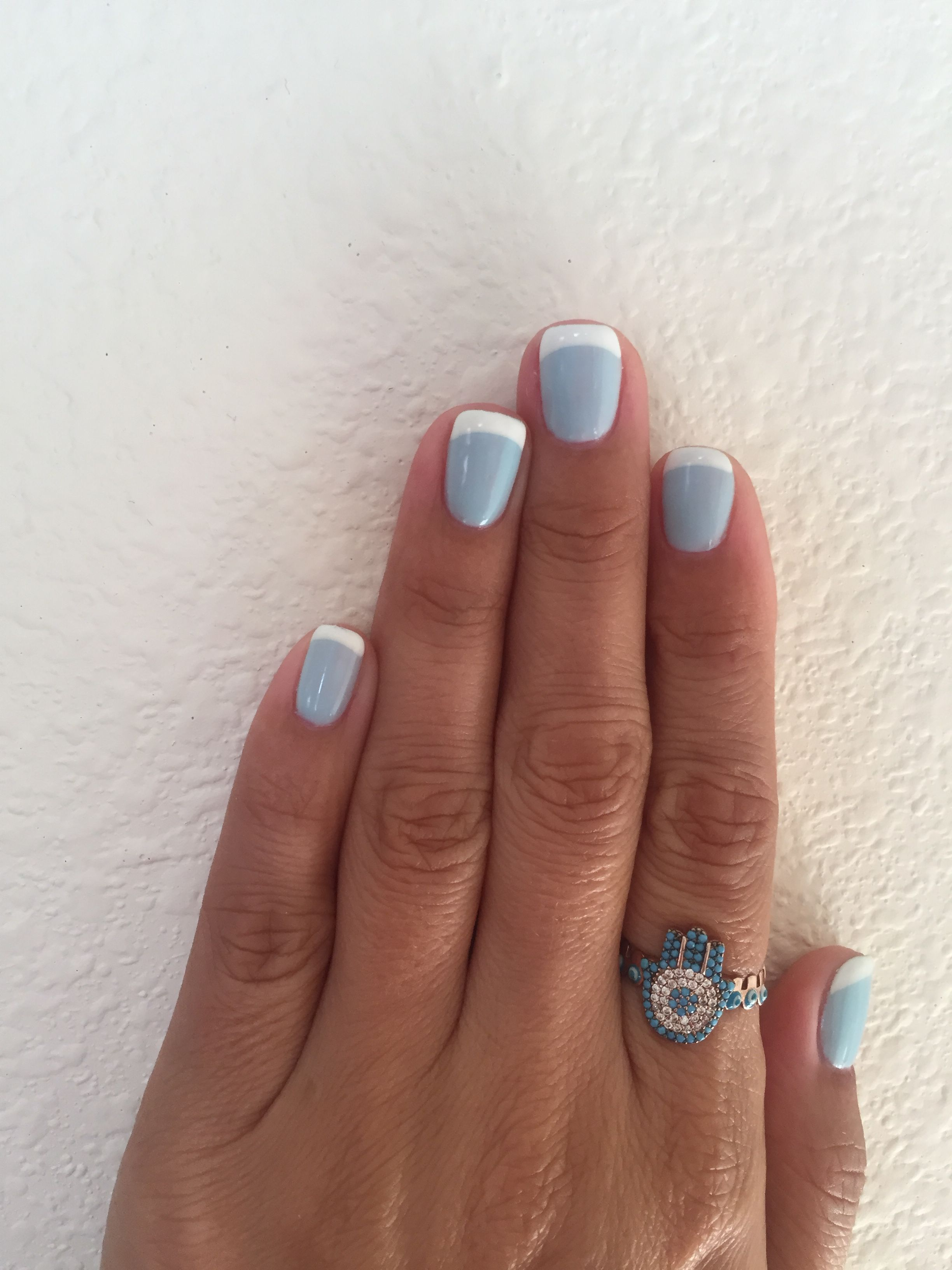 OPI Tiffany Blue french gel nails | Manicures | Pinterest | Tiffany ...