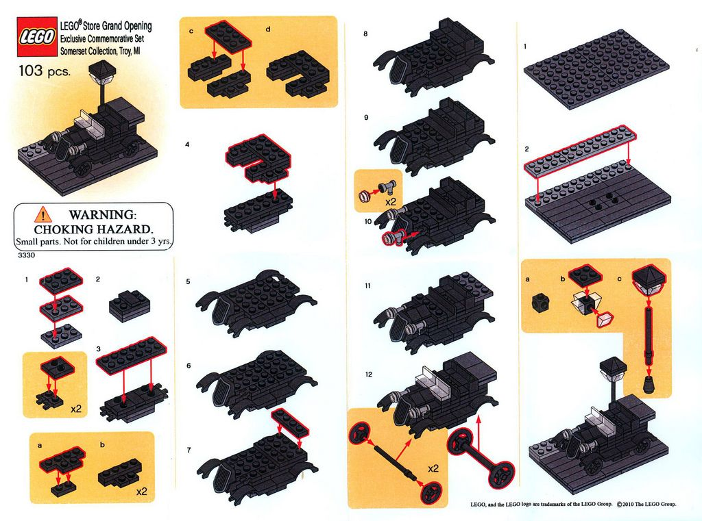 3330 - Classic Car - Instructions Insert | Lego store, Lego and ...