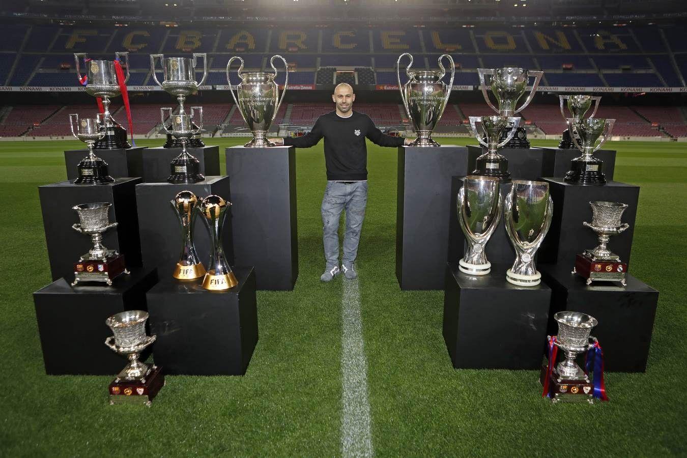 Javier Mascherano All Trophies Won At FC Barcelona The Warrior Barca FCB