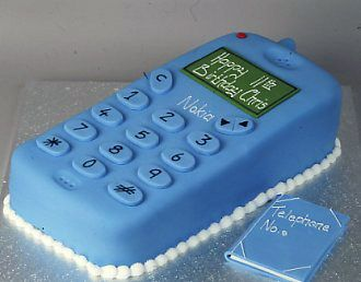 Cellphone Cake for the fanatic in your life P Cool Stuff