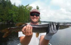 They really are that big!! Fishing stories happen in Northern Ontario's finest fishing areas at Lake Herridge Lodge!