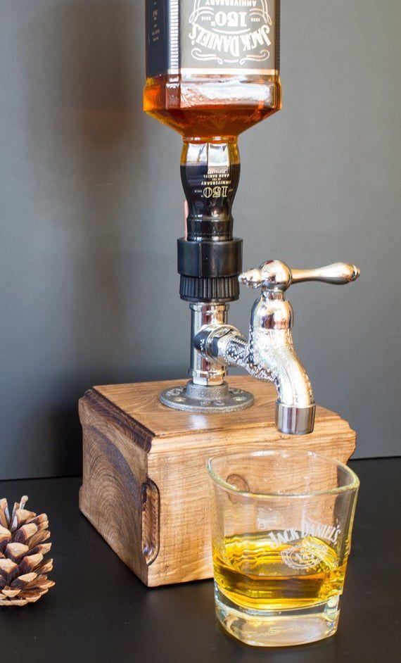 Alcohol Alcohol Whiskey Wood Dispenser, Jack Daniels Gift, …