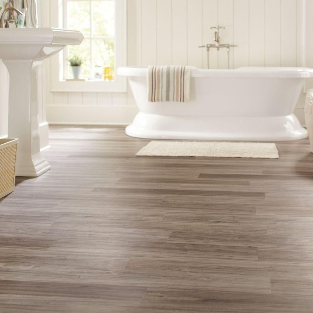 Take A Peek At This Gallery Of Linoleum Flooring Ideas: TrafficMASTER Allure Dove Maple Resilient Vinyl Plank