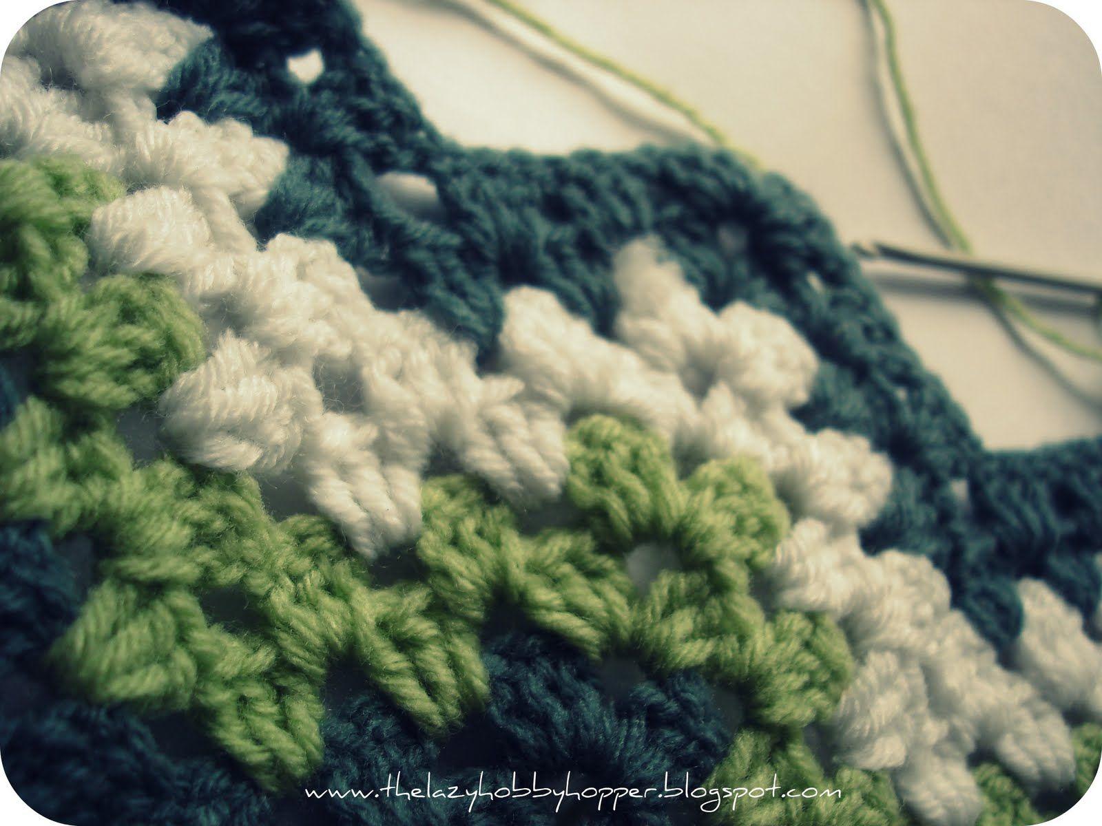 The Lazy Hobbyhopper: How to crochet granny ripple | Yarn: Tips ...
