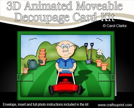 3D Gardening Man Animated Card    http://www.craftsuprint.com/card-making/kits/3d-animated-card-kits/3d-gardening-man-animated-moveable-decoupage-card-kit.cfm?r=380405
