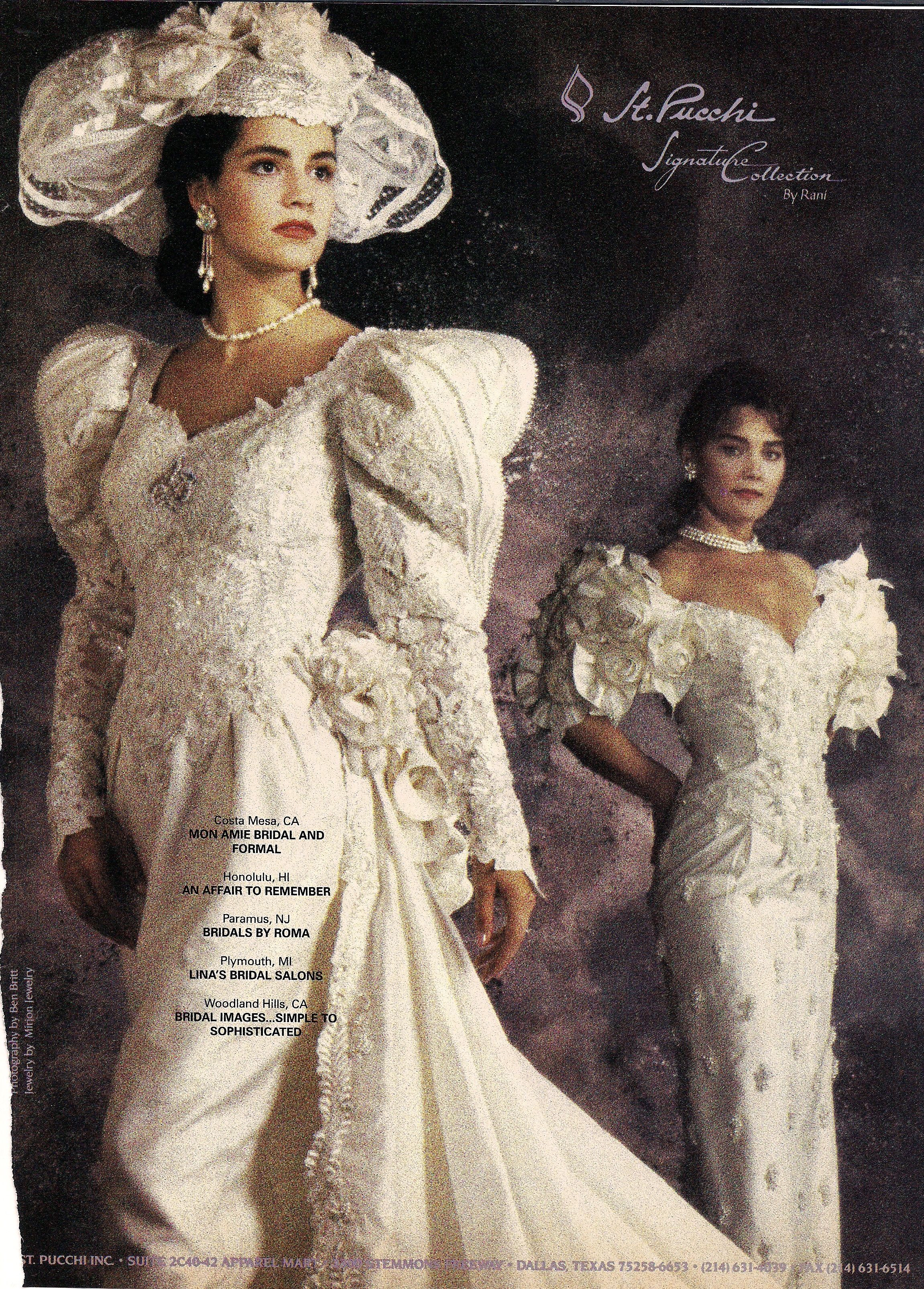 1991. Typical example of the excesses--especially in bridal wear ...