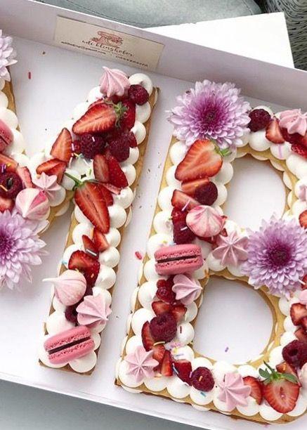 Pin Af Kattae Sanenixay Pa Letter Fruit Cake Fodselsdag Kage Mad Ideer