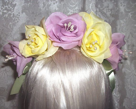 Marie Antoinette's Flower Crown by Kissy2 on Etsy, $12.00