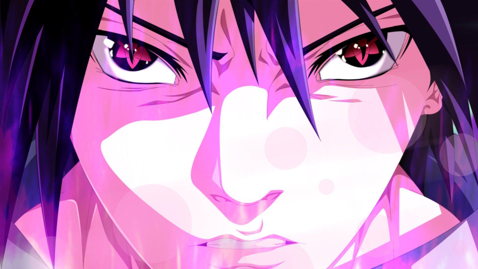 Wallpaper Anime Naruto Mangekyō Sharingan Sasuke Uchiha