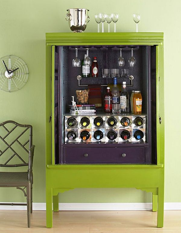 Amazing Home Bar Cabinet Design Ideas