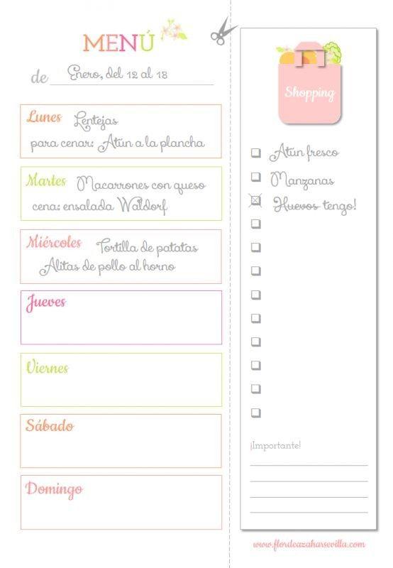 13 imprimibles gratis para organizar las tareas del hogar ...