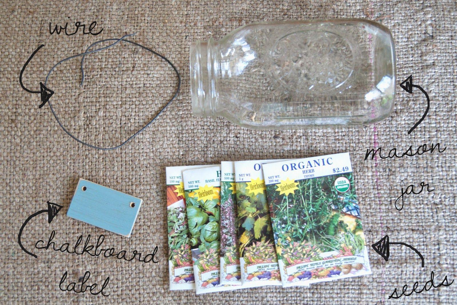 Diy Mason Jar Herb Garden Averie Lane