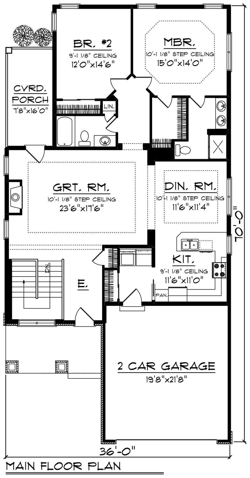 Craftsman Style House Plan - 2 Beds 2.00 Baths 1602 Sq/Ft Plan #70 ...