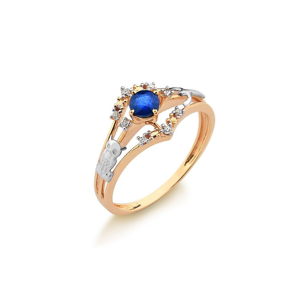 Anel de Formatura Fabricado em Ouro 18k 0,750 com Brilhantes e Pedra Natural.  A cor cfad2f354c