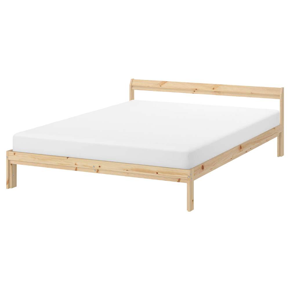 Neiden Bed Frame Pine Full Ikea In 2020 Bed Frame Ikea Ikea Bed