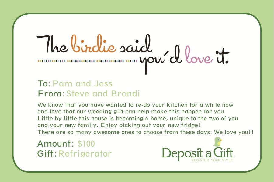 Gift Registry Card Wording | Wedding Gallery | Pinterest | Wedding ...