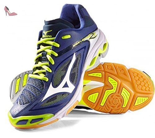 the latest 4de09 898e4 Mizuno Wave Lightning Z3, Chaussures de Volleyball Homme, Multicolore  (Bluedepths White