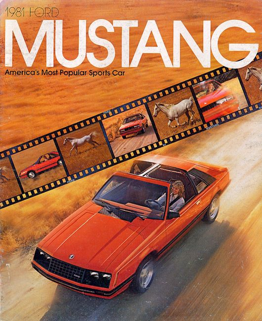 Americau0027s Most Popular Sports Car MMM Mustang Ad 1981    Fun Typography! |  Ford | Pinterest | Sports Cars, Mustang And Ford.