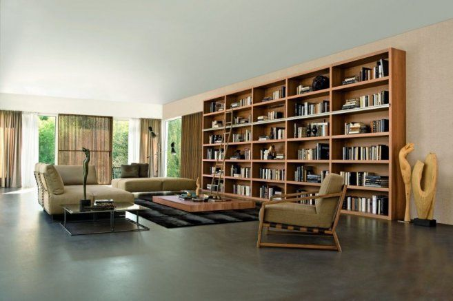 20 wooden bookshelves design ideas for your interior wooden bookcase and modern interior design - Wooden Bookcases