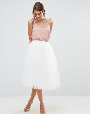 Little Mistress – Midi-Ballrock aus Tüll in 2019   hochzeit   Skirts ... 24a8fda59c