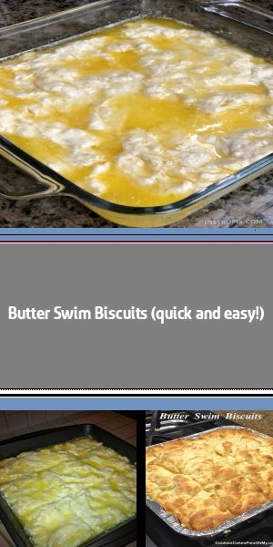 Butter Swim Biscuits Easiest biscuits for dinner! A little crisp and very buttery on the outside and tender on the inside. Recipe comes from simplytexas. Careful, these are dangerous, you might eat the whole pan! 2½ cu… #butterswimbiscuits