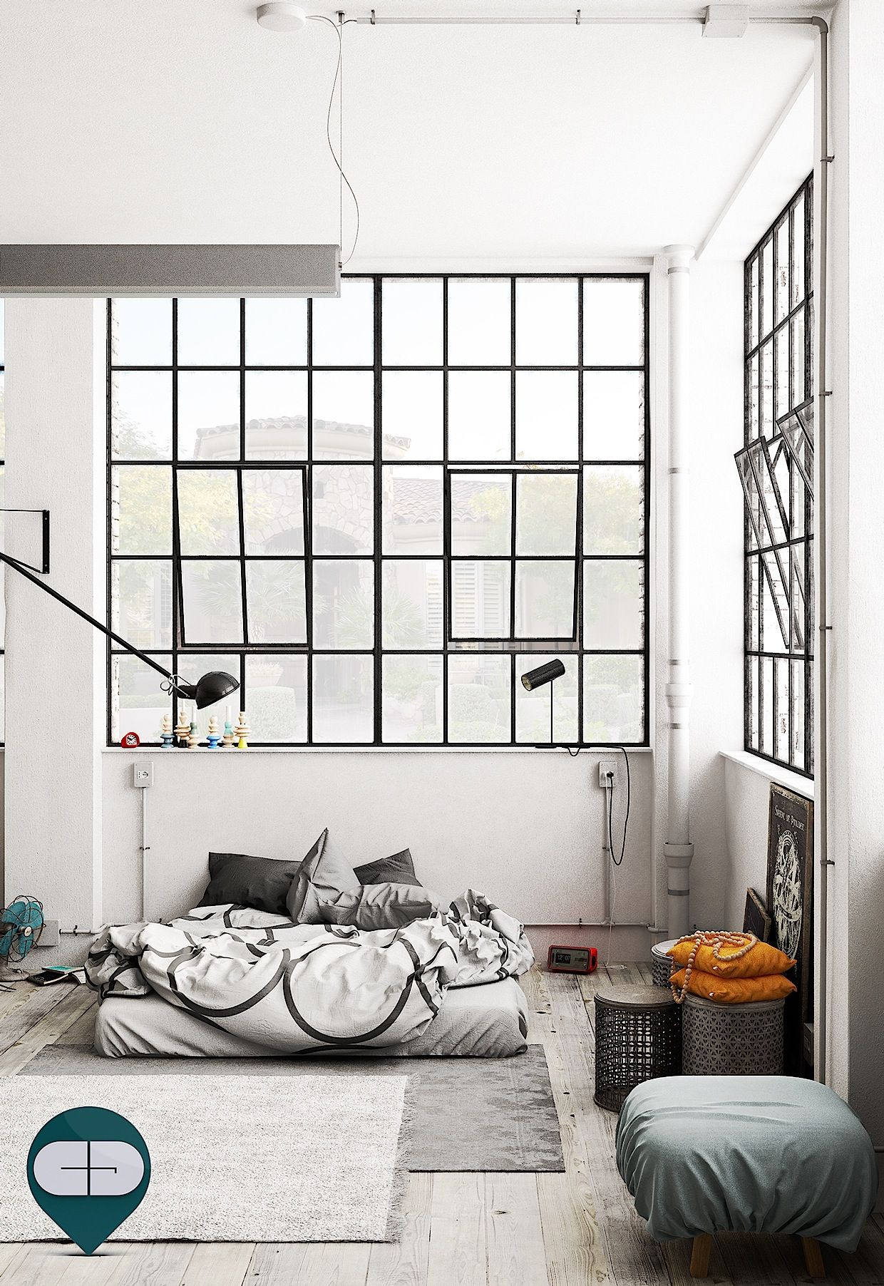 Schlafzimmer Loft Industrial Loft Bedroom House