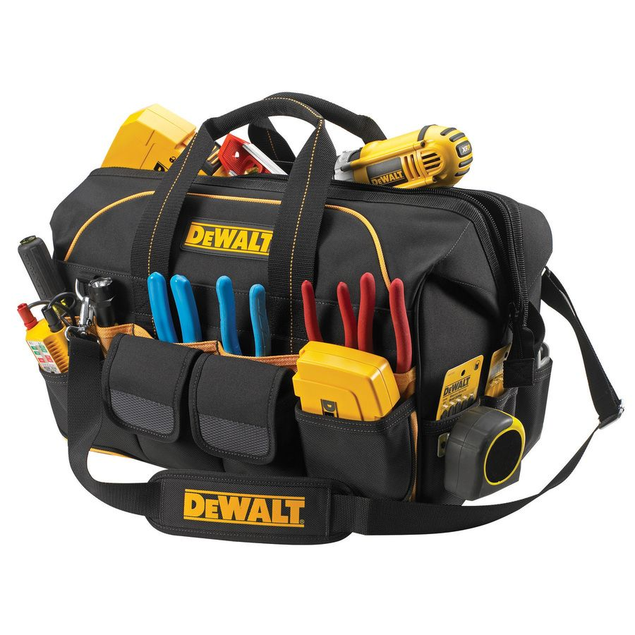 Dewalt Polyester Zippered Closed Tool Bag At Lowes
