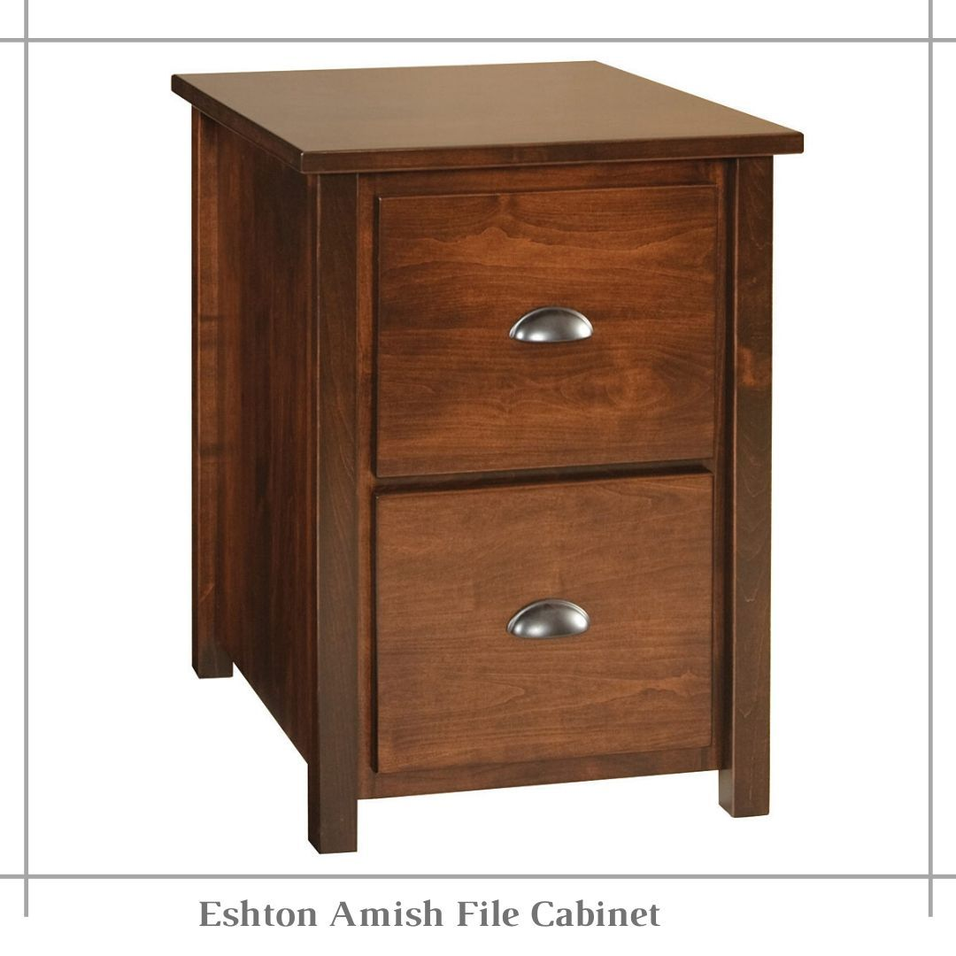 Eshton Amish File Cabinet In 2020 Filing Cabinet Wooden Office Furniture Office Furniture Diy