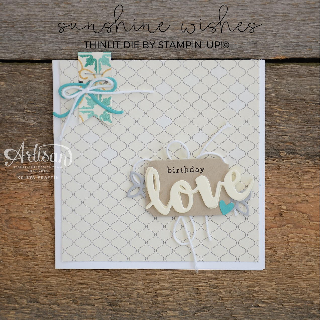 """Stampin' Dolce: a 4""""x4"""" birthday card - GDP046"""