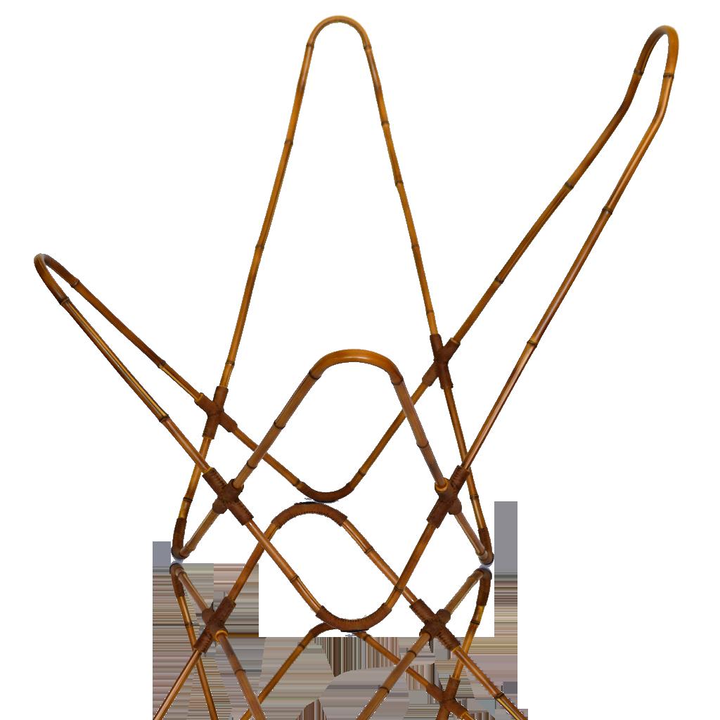 Estructura De Silla Bkf De Bamb Con Aplicaciones En Piel  # Muebles Debambu