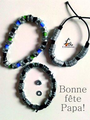 bracelet pour la f te des p res f te des p res cadeau. Black Bedroom Furniture Sets. Home Design Ideas