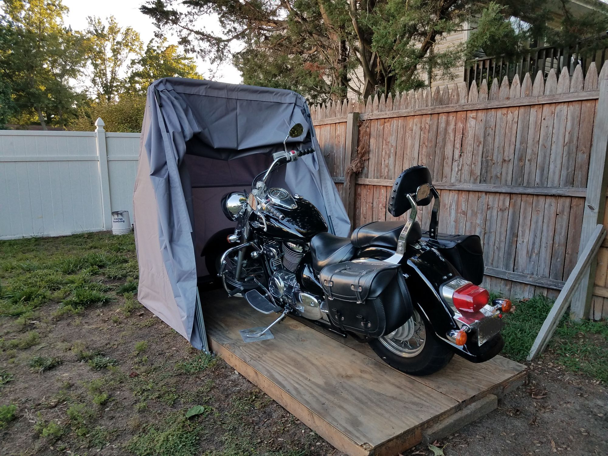 Hard Covered Bike Shelters : Motorcycle shelter cover shed pinterest