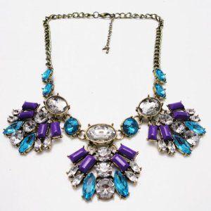 WIIPU Vintage Crystal Choker Statement Necklace For Women  #krissylovesbling