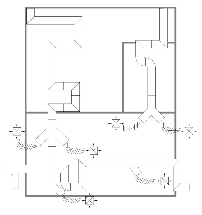 HVACシステムサンプル   Free floor plans, Floor plans, Hvac design   Hvac Drawing Templates      Pinterest