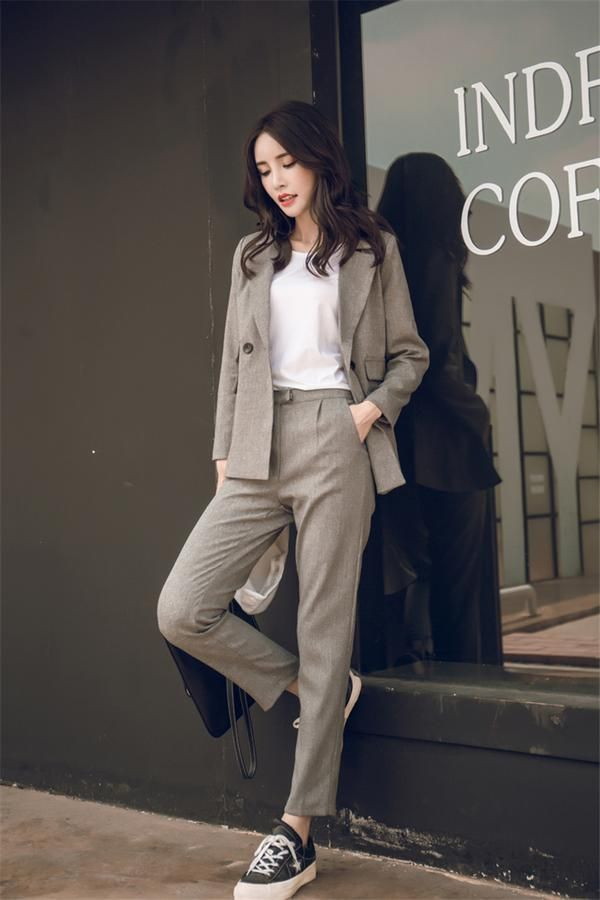High Waisted Pant Suit