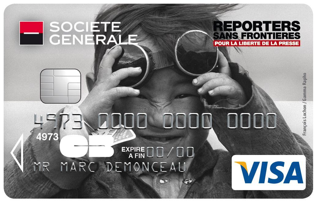 Carte Visa Societe Generale Reporters Sans Frontieres