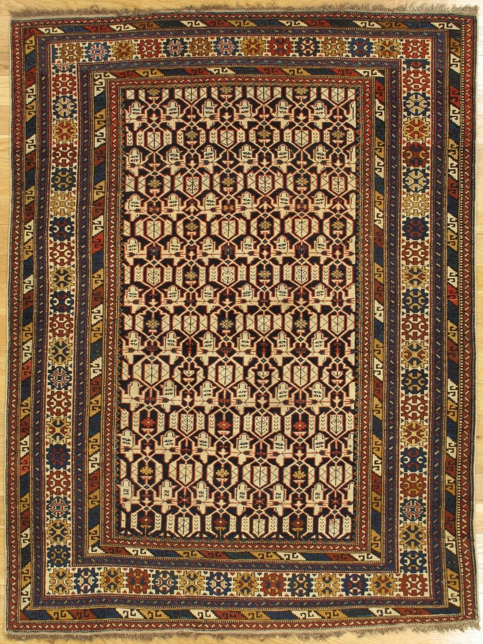 Konagkend Rug From Eastern Caucasus West Coast Of The Caspian Sea Age Circa 1890 Size 5 8 X4 4 173x102 Cm Rugs Antique Rugs Asian Rugs