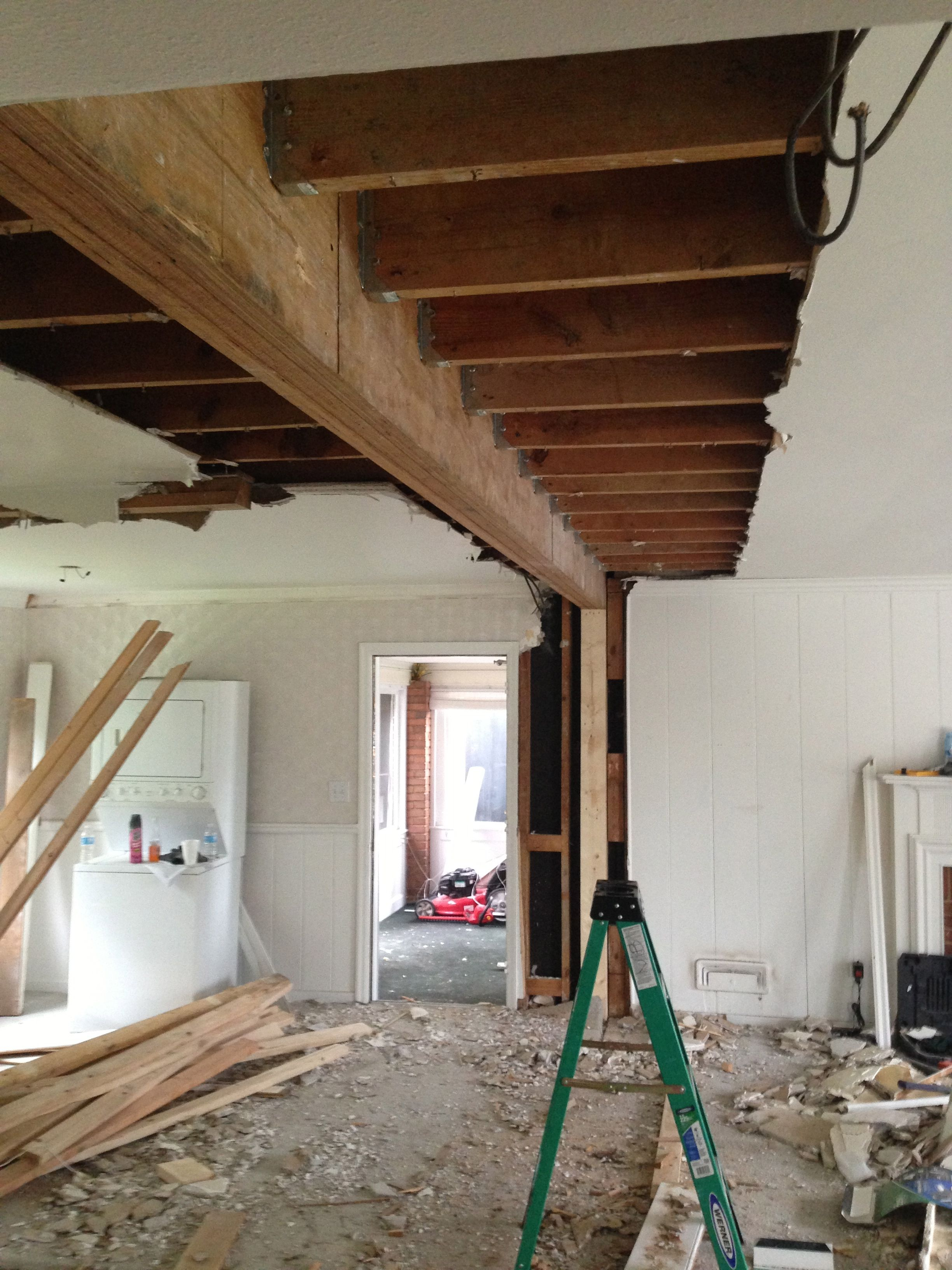 New 21ft beam to replace load bearing wall stuff i dig in 2019 pinterest load bearing wall for Cost to demo interior of house